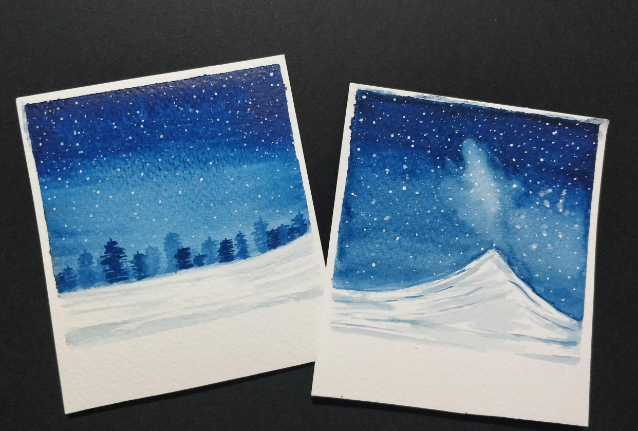 My attempt at snowy landscapes - student project