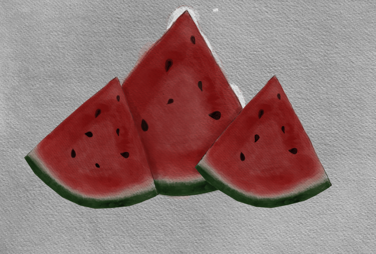 Watermelon slices - student project