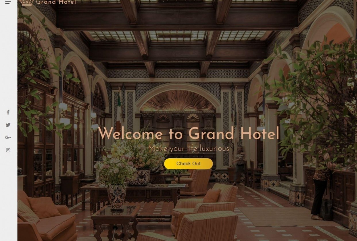 Grand Hotel (css in the ITCSS way) - student project