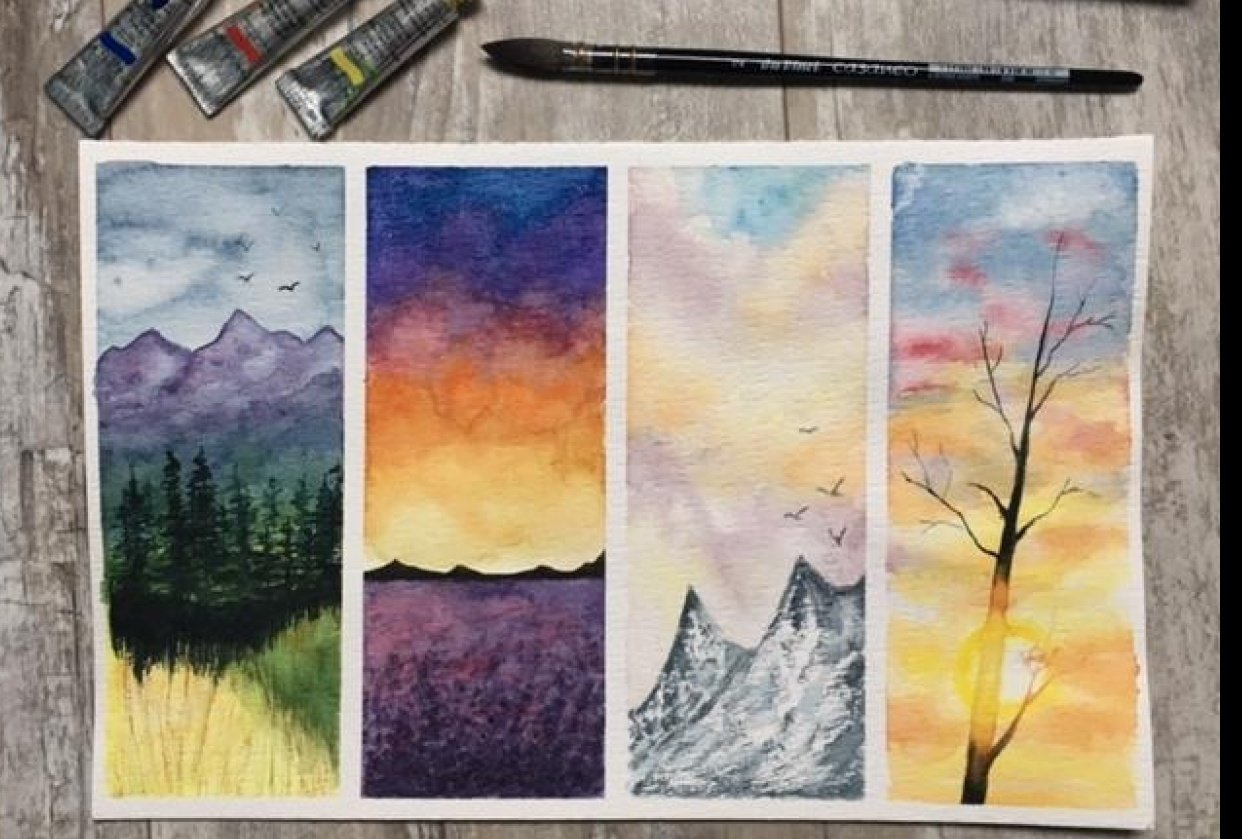 Learn to Paint Quick and Easy Watercolour Landscapes - student project