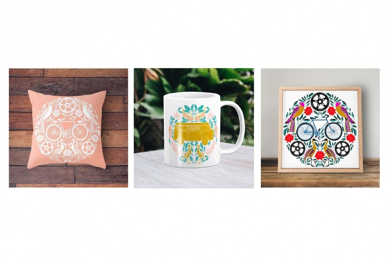 Society6 Products & Mockups - student project