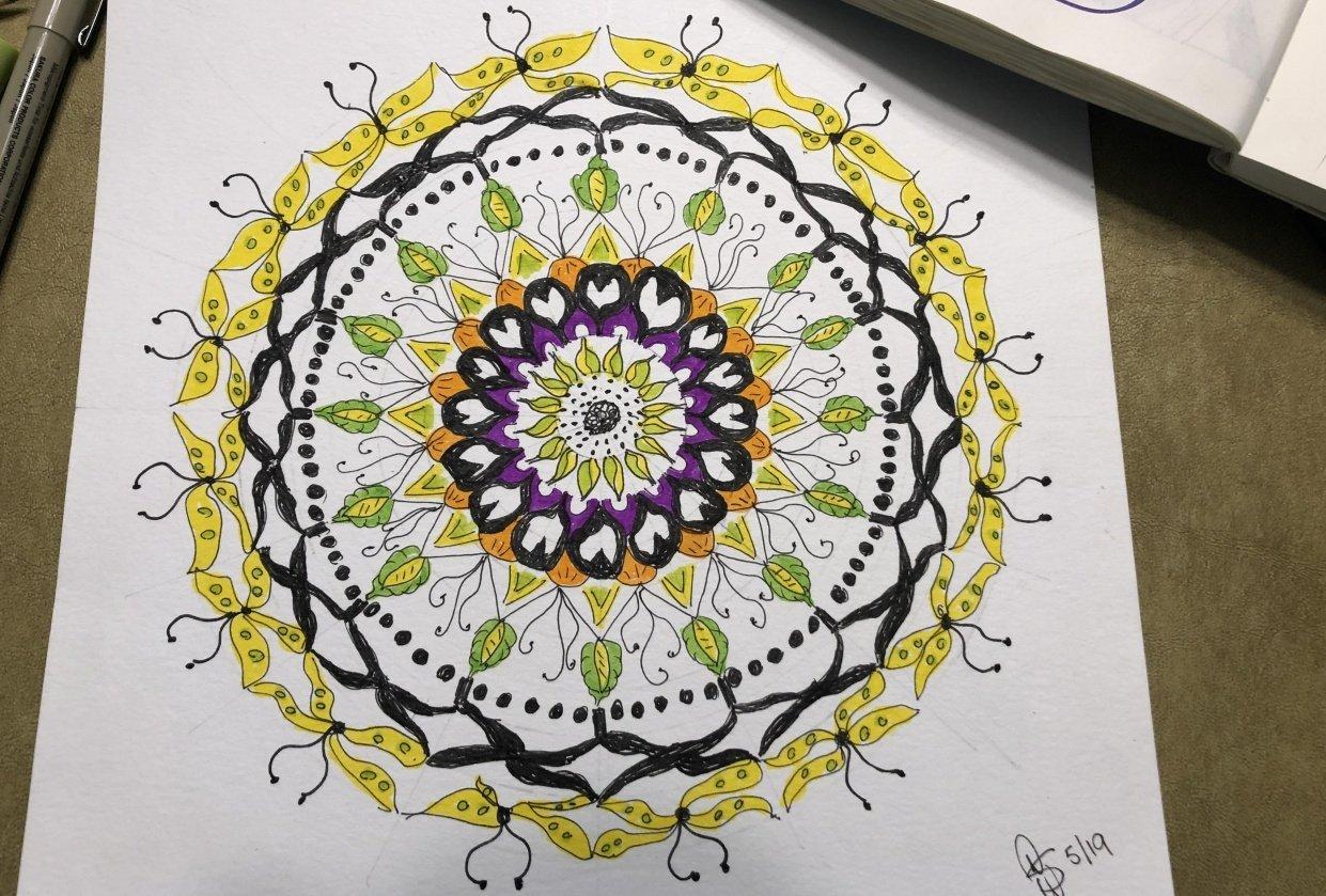 Sunny Day Mandala - student project
