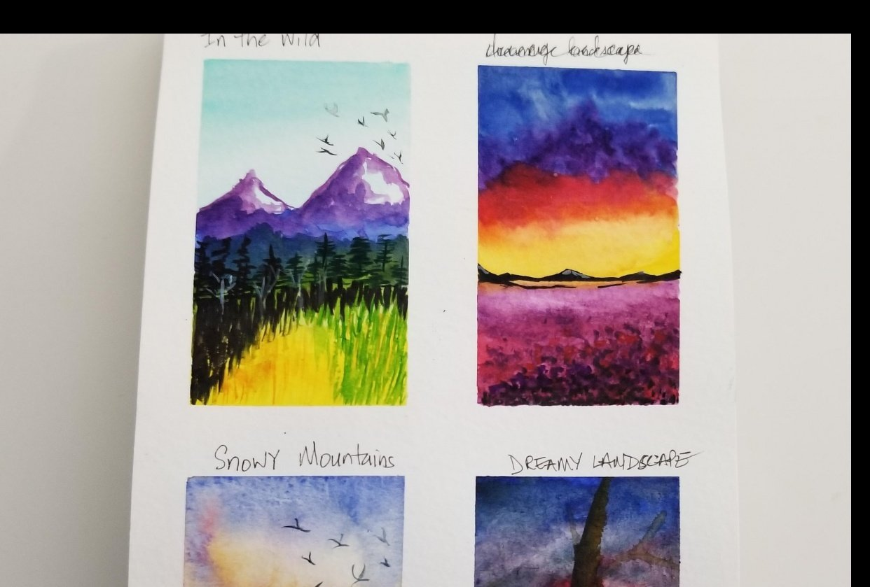 Quick & Easy Watercolor Landscape - student project