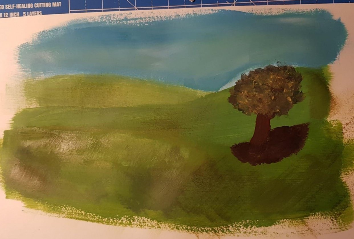 First attempt on acrylics (beginnerest of the beginners) - student project