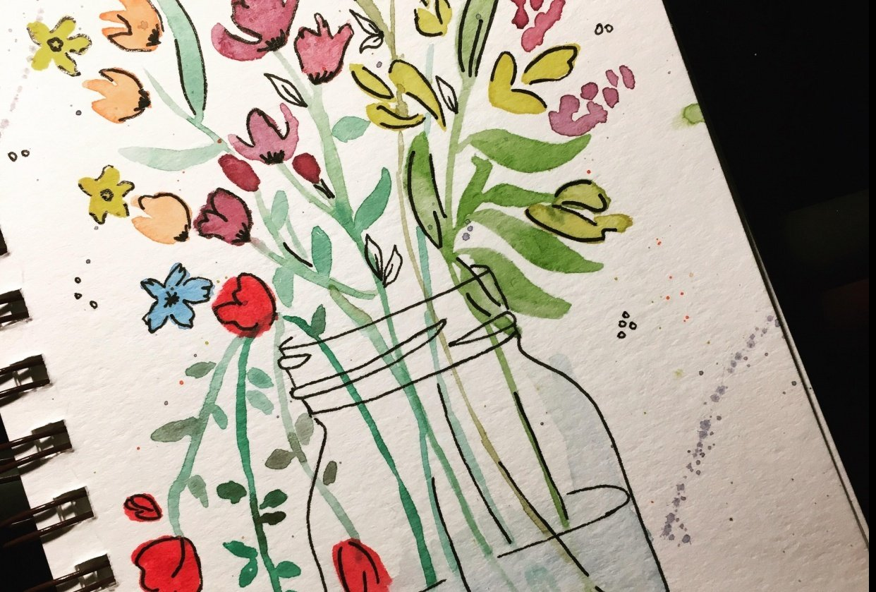 Wildflowers Jar - student project