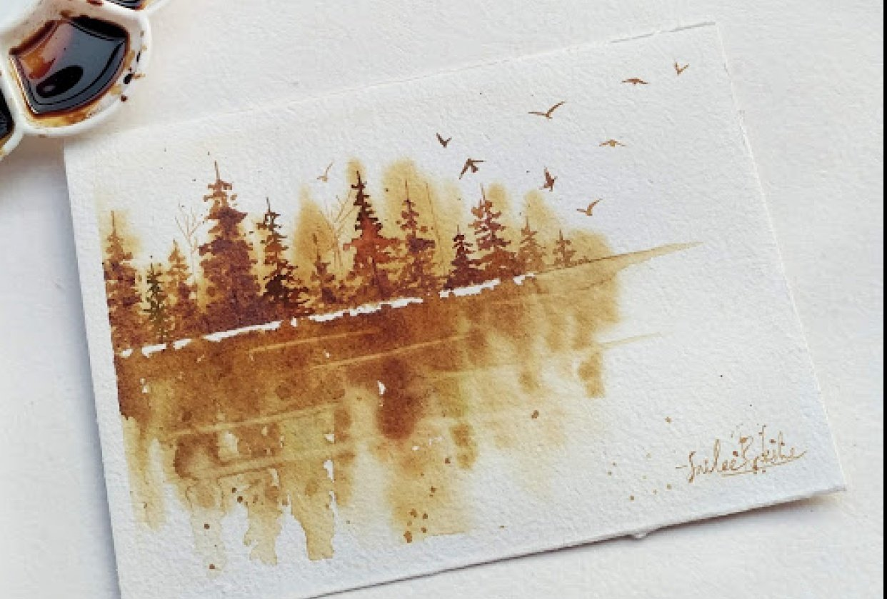 Coffee dreamy lake - student project