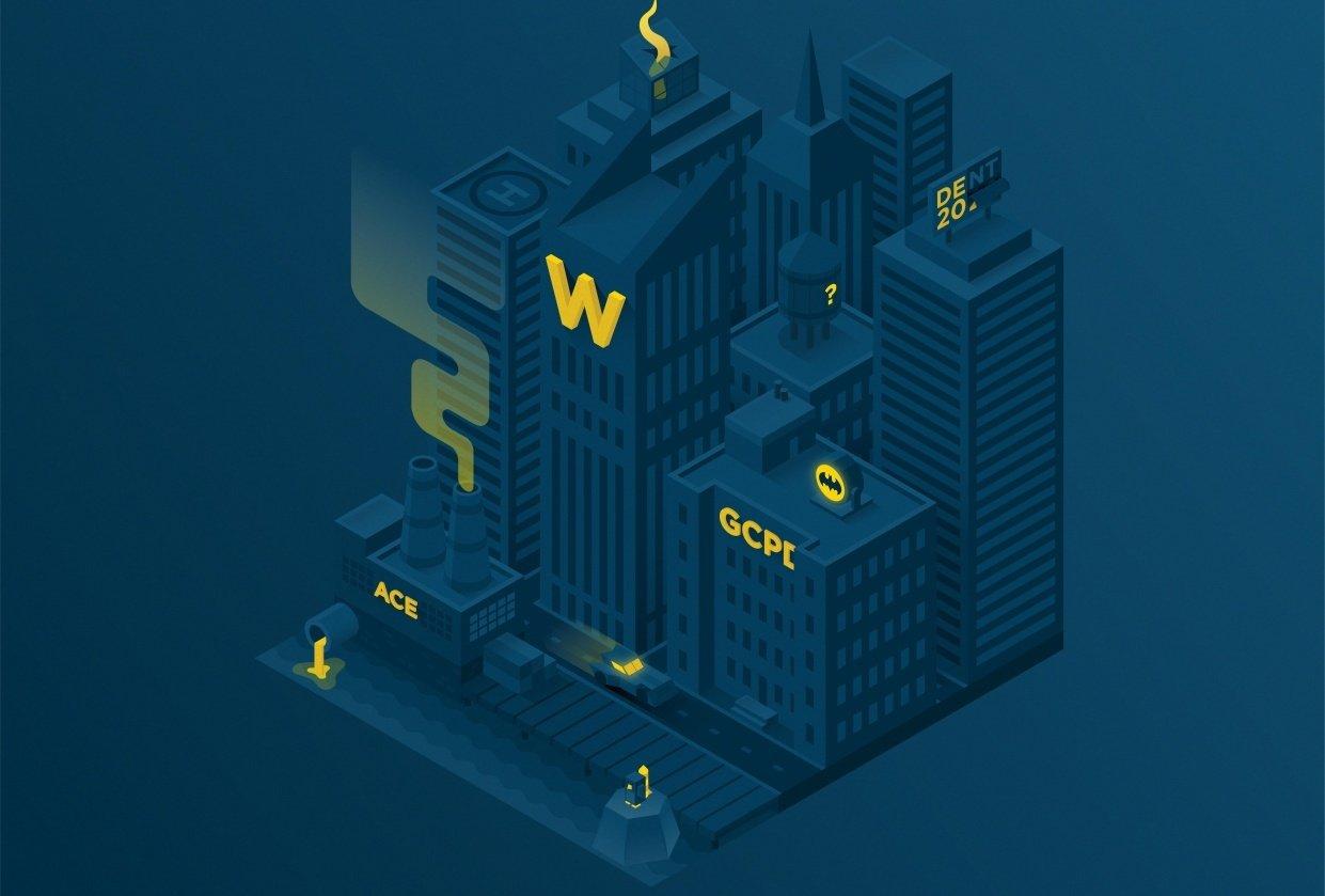 Isometric Gotham City - student project