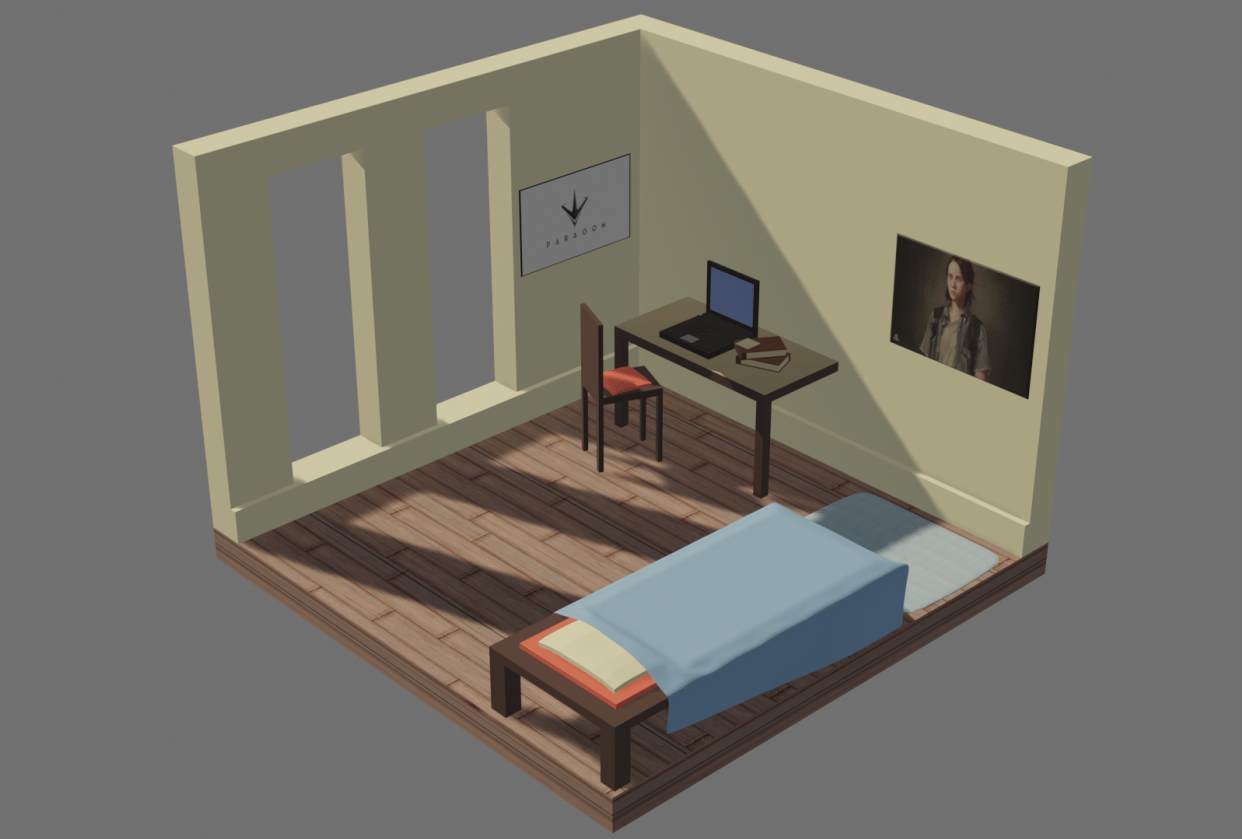 My low poly room - student project