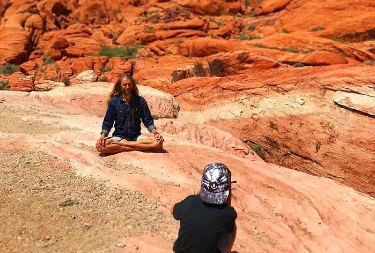 Taking a Minute in the Red Rock Canyon - student project