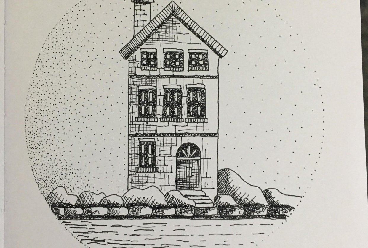 Sketching with pen and ink - student project