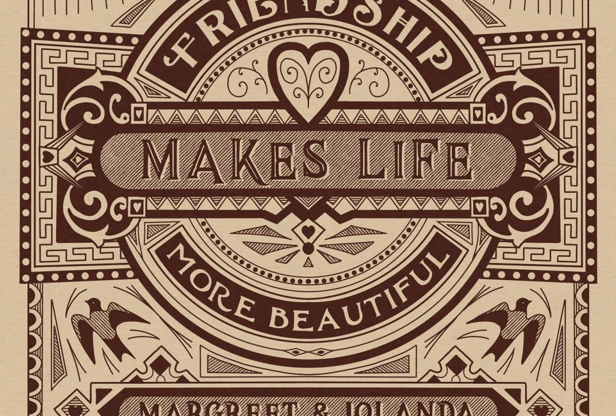 Friendship makes life more beautiful - student project