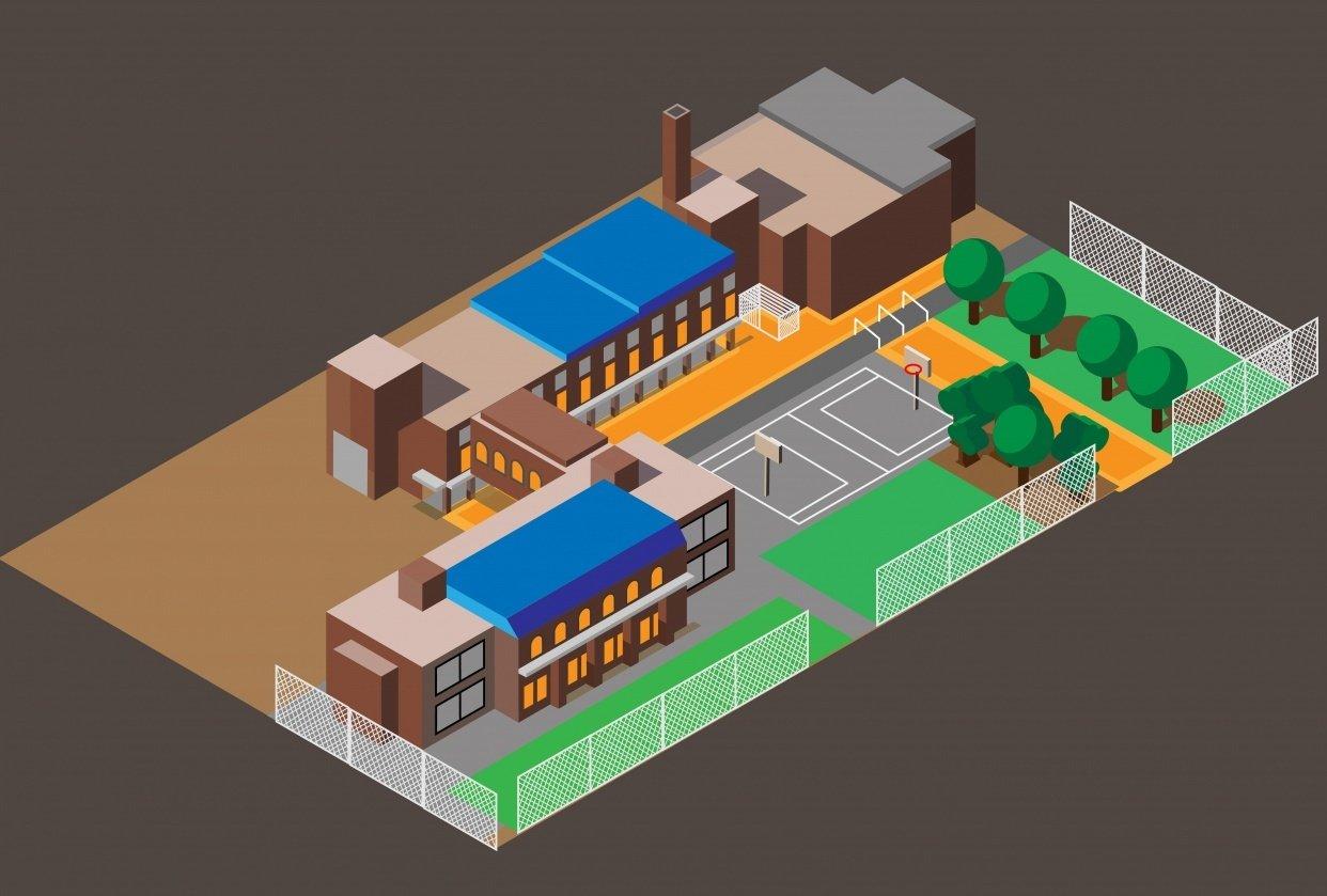 Halifax St. Patrick's-Alexandra School isometric image - student project