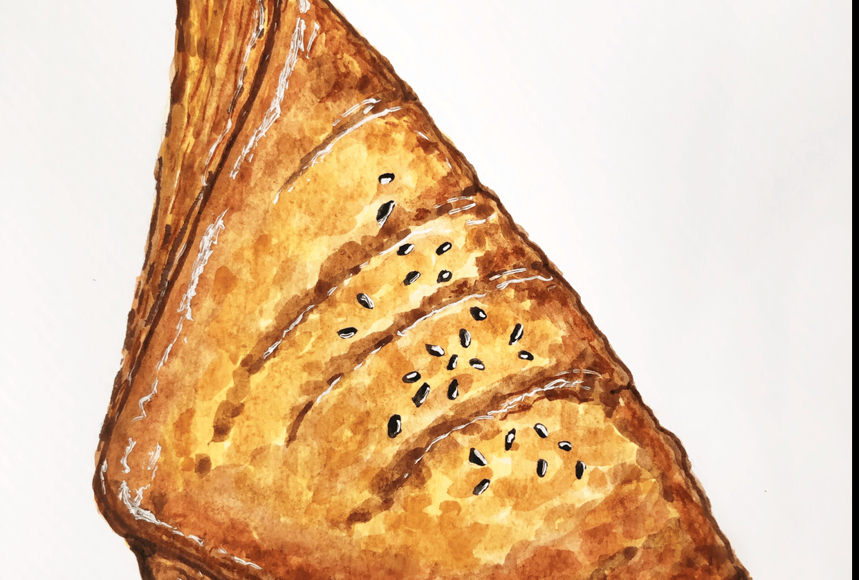 Pastry with watercolour - student project