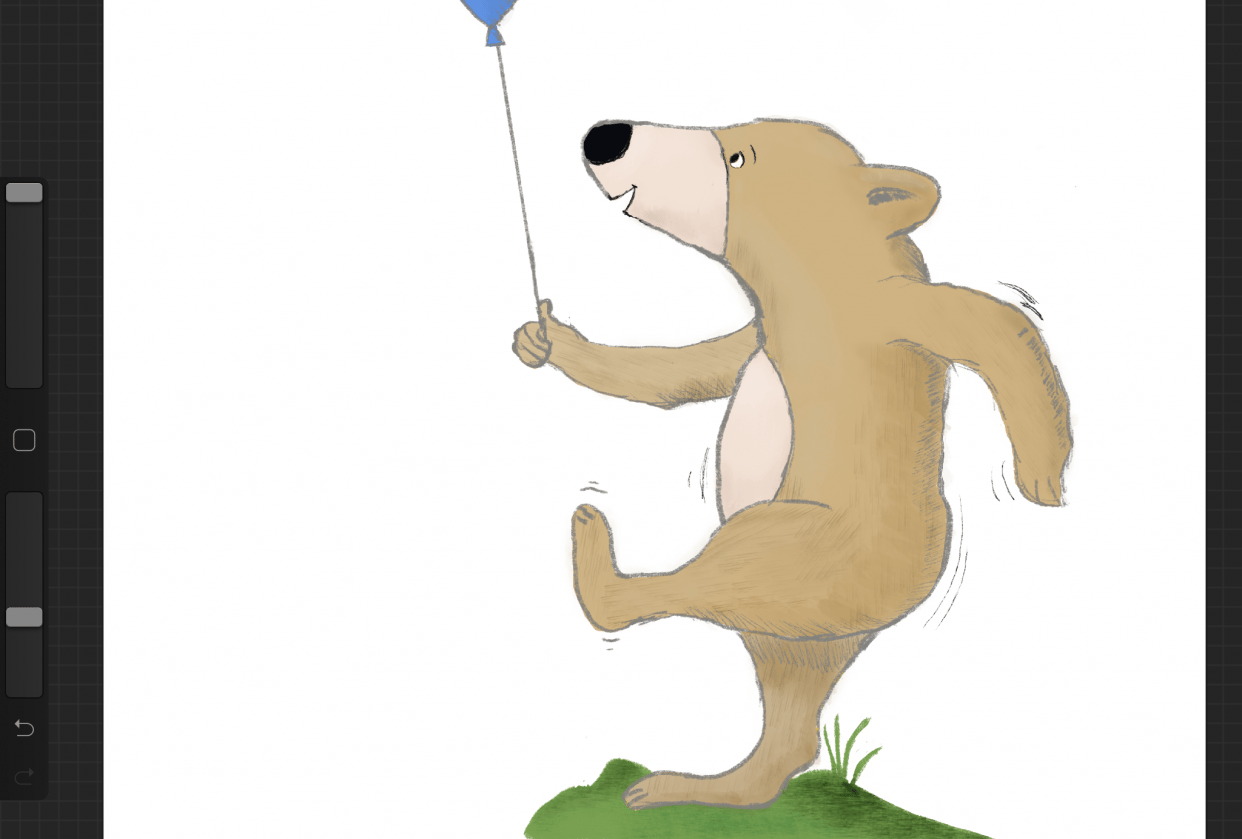 Bear with balloon - student project