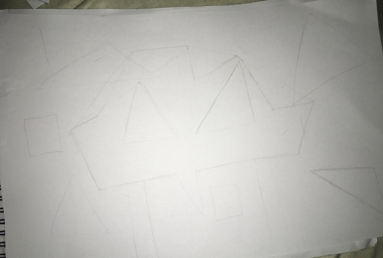 Attempts on drawing straight lines - student project