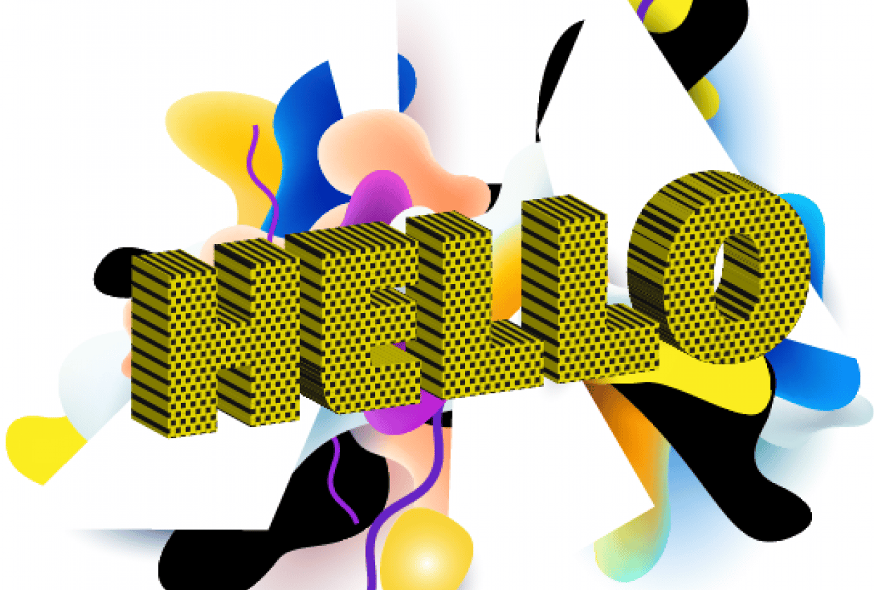 Halftone Pattern in Text Abstract - student project