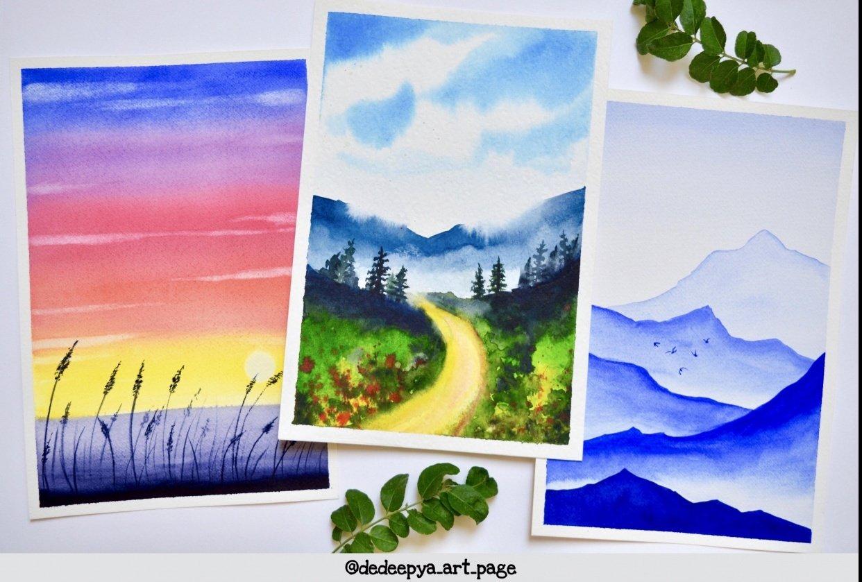 Watercolor landscapes - Dedeepya - student project