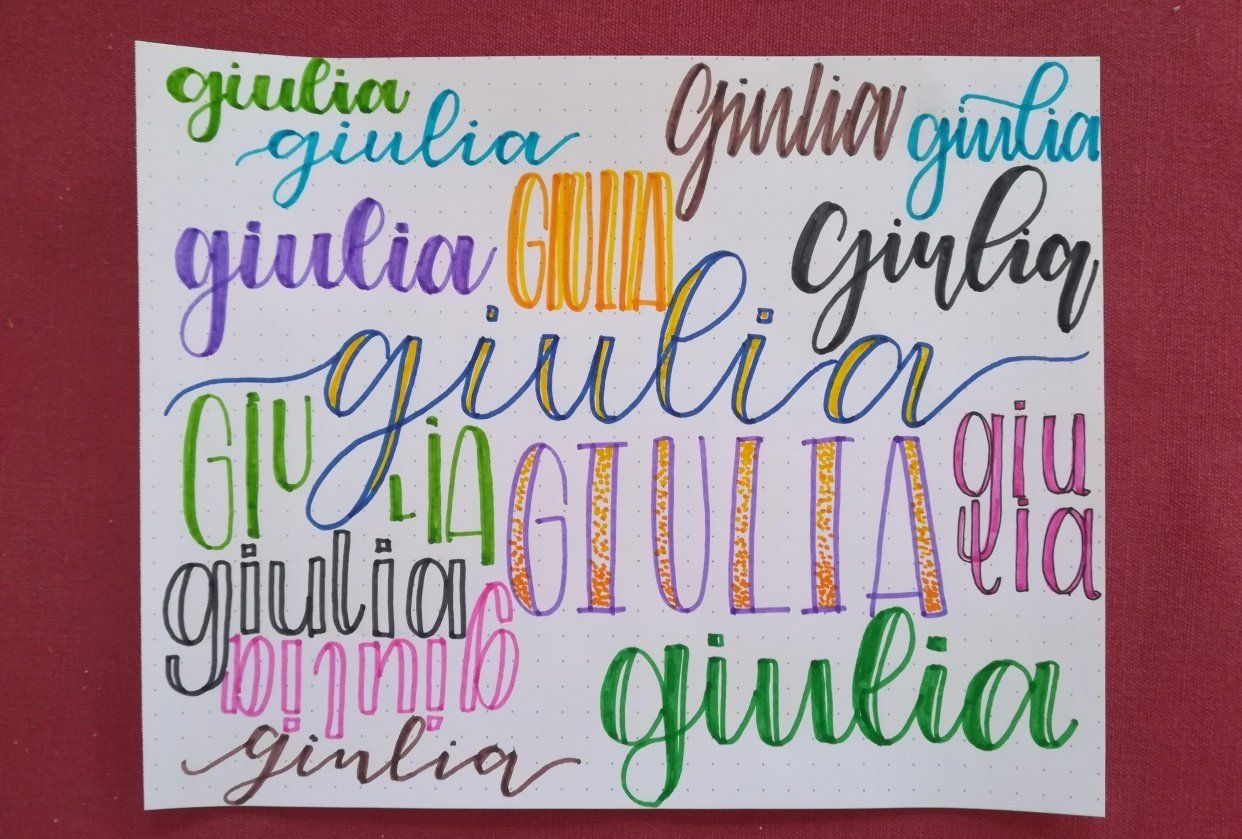 Faux calligraphy - Giulia - student project
