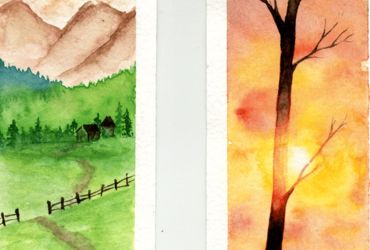 Landscape bookmarks - student project