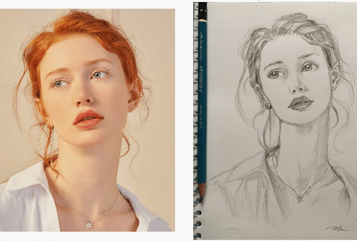 My first portrait - student project