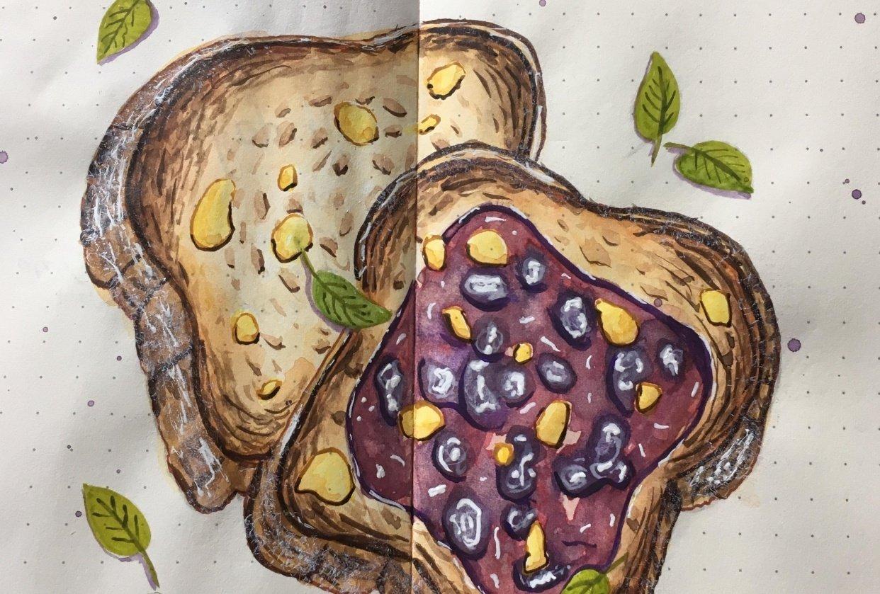 Jam on toast - student project
