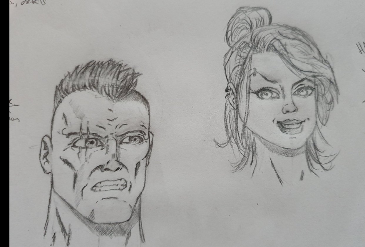 Comic characters - student project