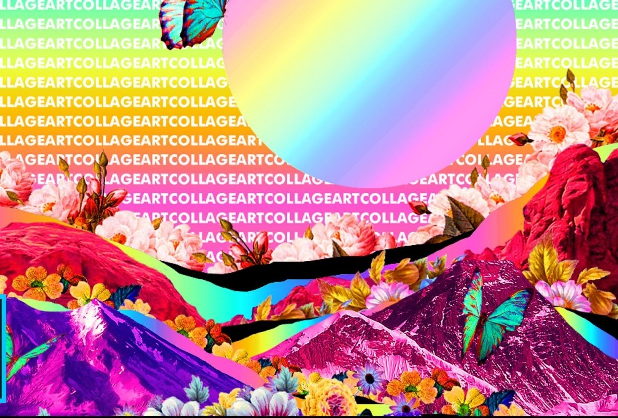 Digital Collage Art - student project