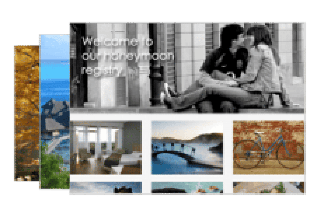 Our Honeymoon Registry - student project