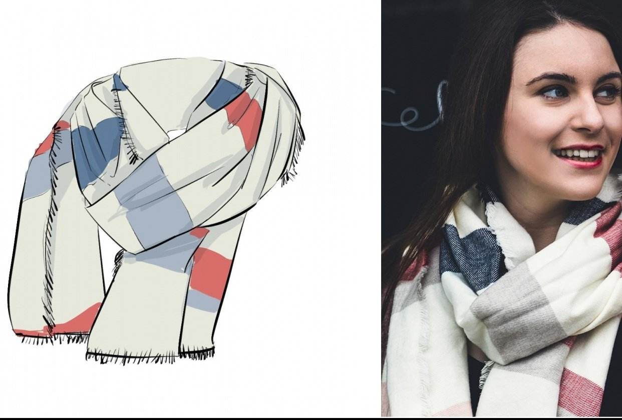 Winter Scarf Drawing - student project