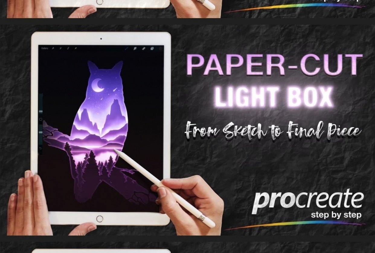 How to get a Paper Cut Effect in Procreate - student project