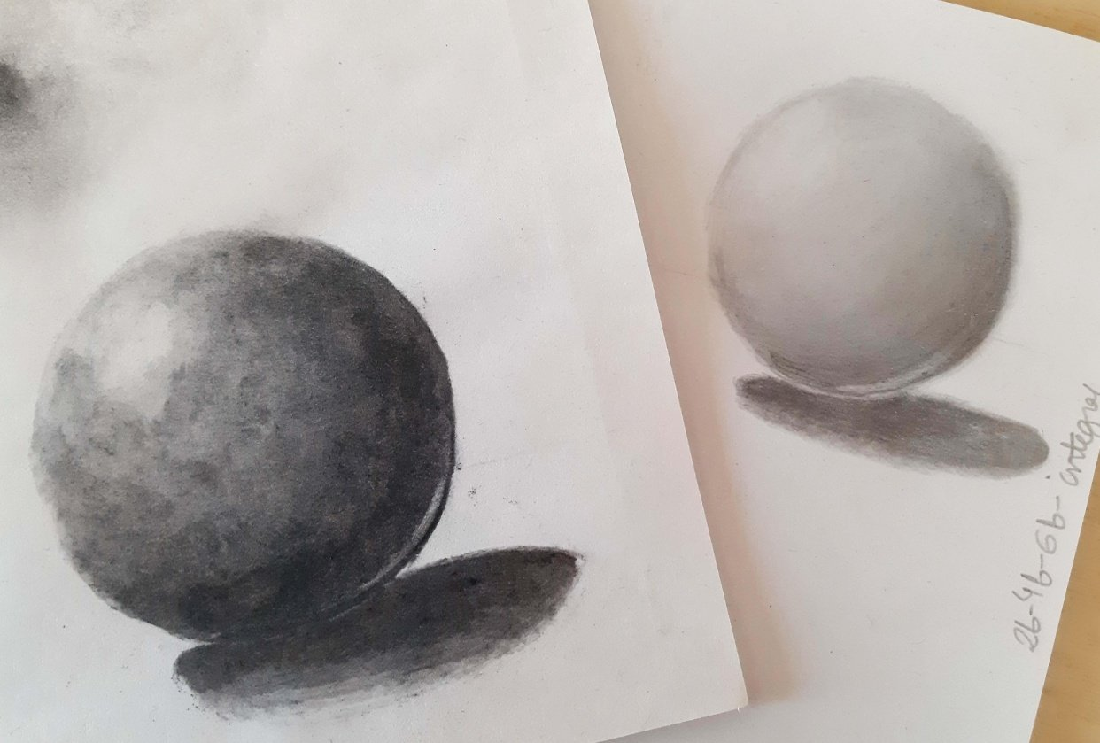 Charcoal and graphite - student project