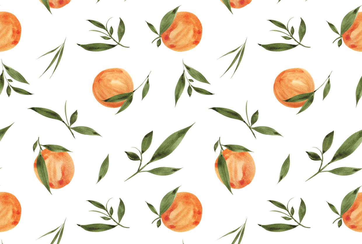 Painted Oranges Pattern - student project