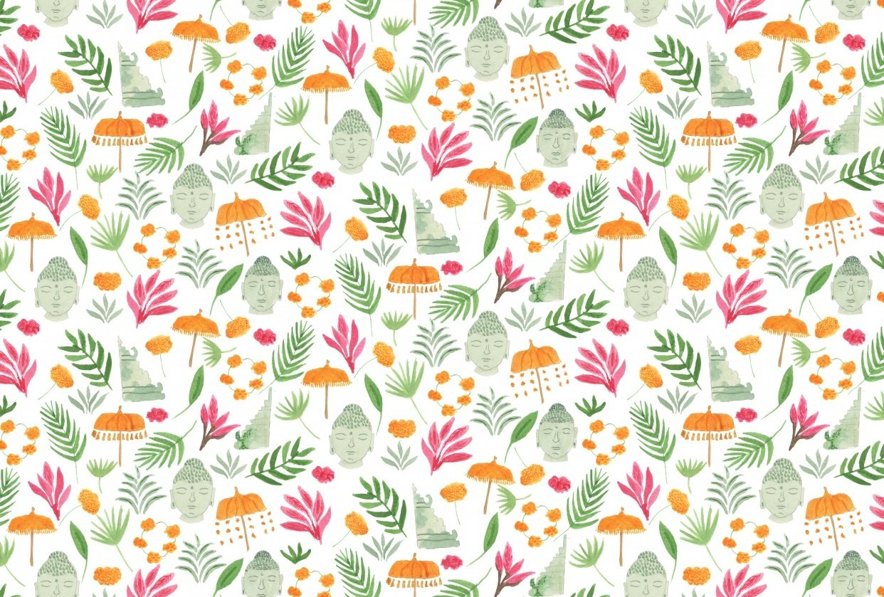 Bali inspired pattern - student project