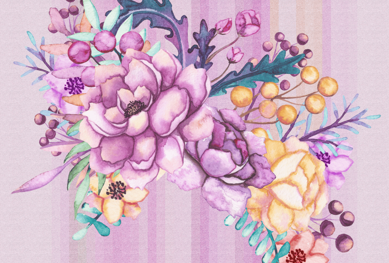 Flower patterns and stripes - student project