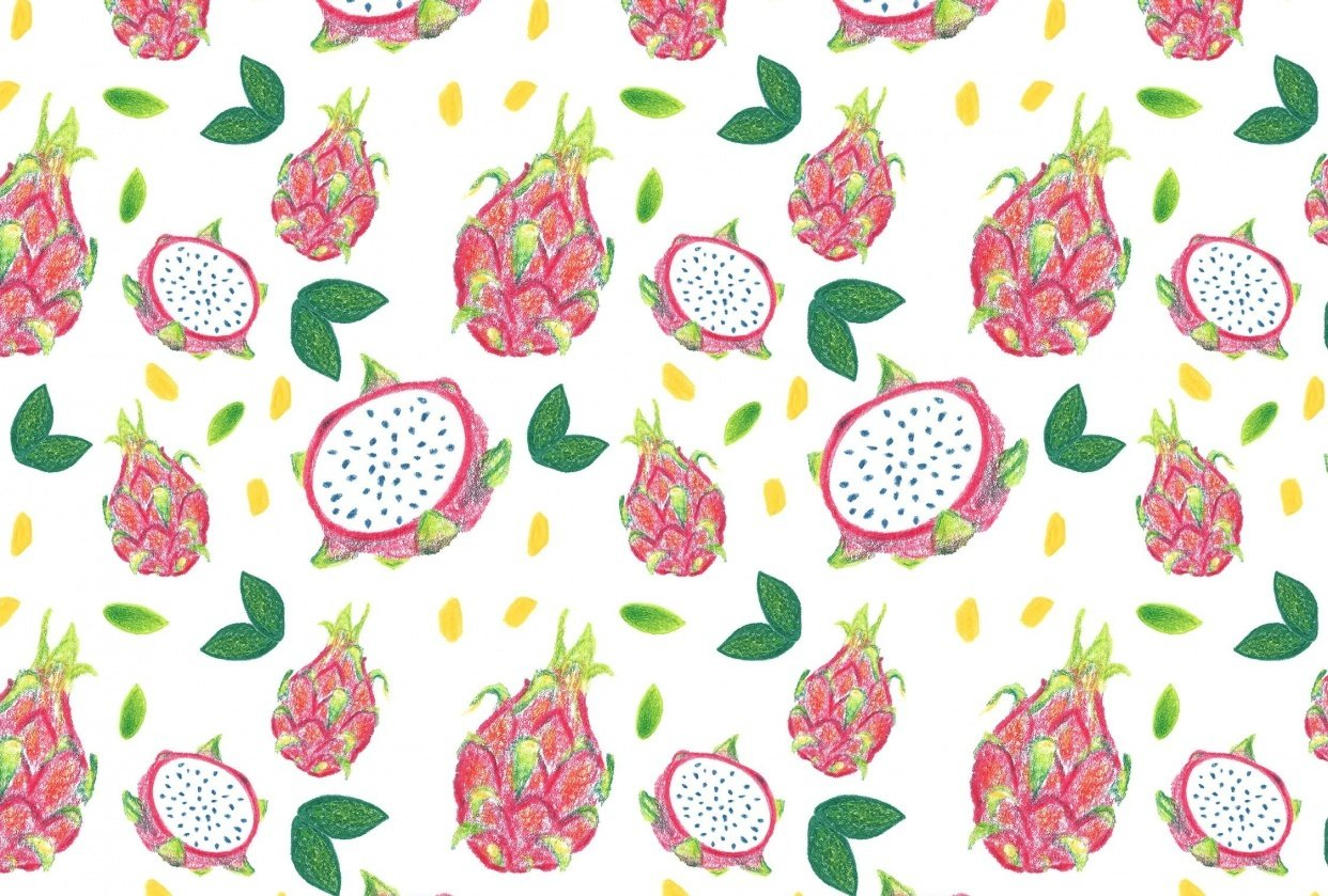 Dragonfruit Pattern + Geometric - student project