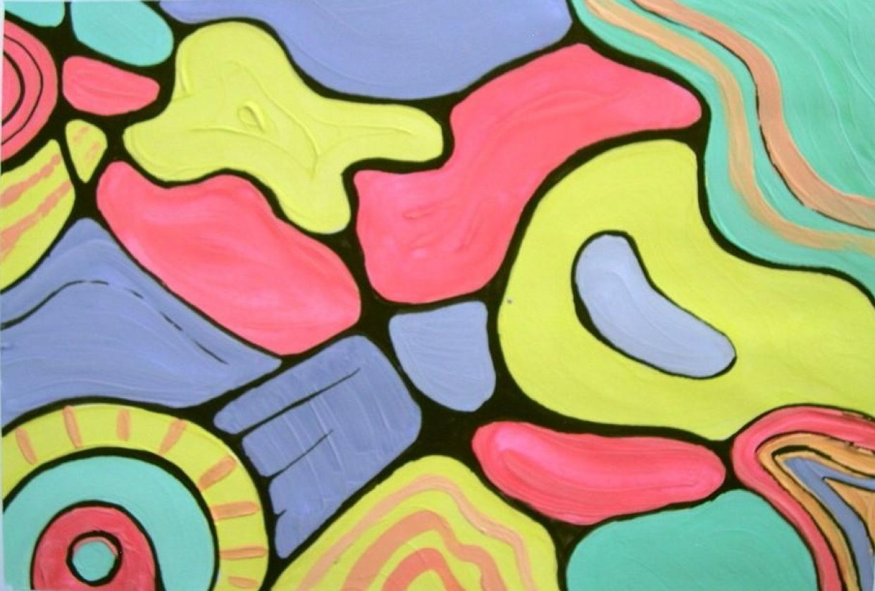Create an Abstract Painting with Acrylic Paints - student project