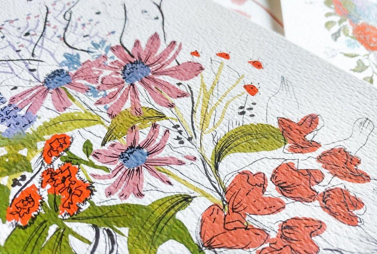Gouache Florals - student project