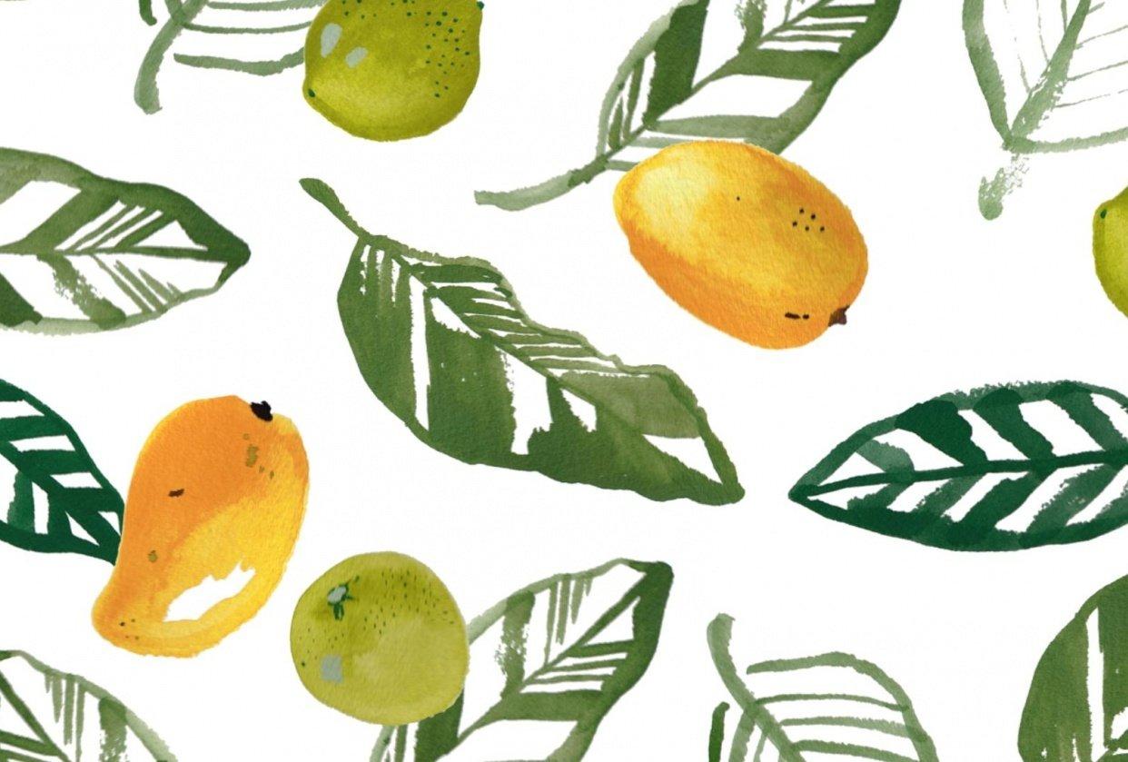 Mango Lime Print - student project