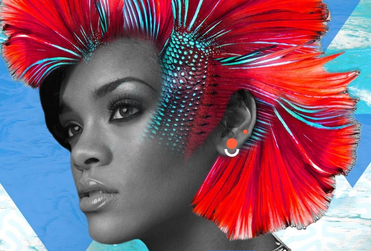 Rihanna Digital Poster Project - student project