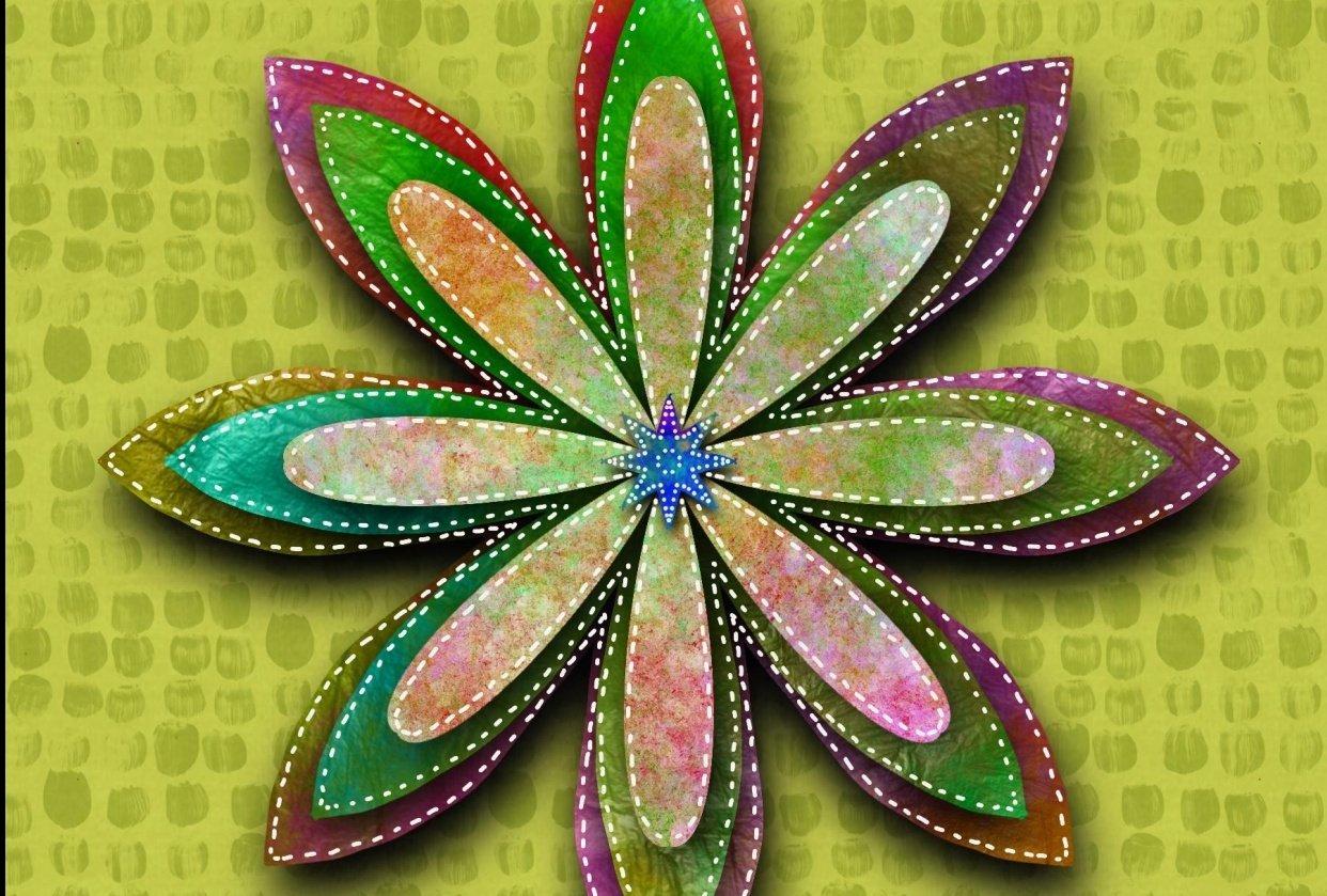 textured mandella - student project