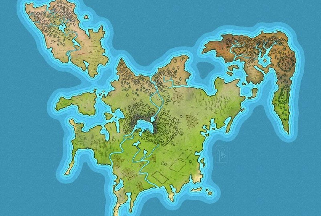 Map Drawing II - Terrain Features - student project