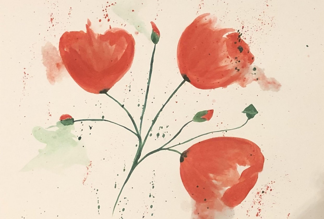 Abstract Poppies - student project