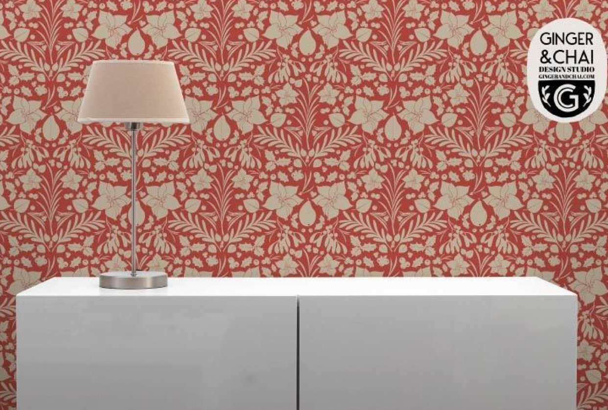 Holiday Foliage Wallpaper - student project