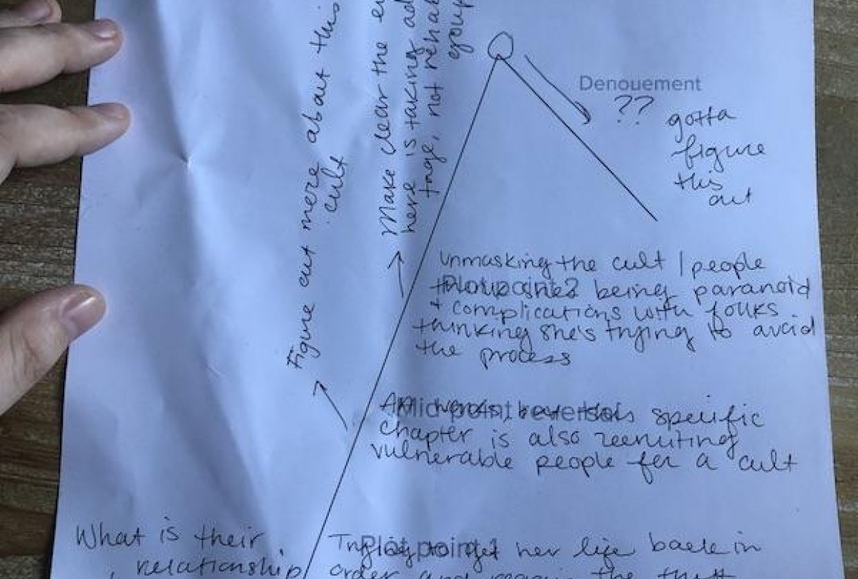 Short story Freytag's Triangle - student project