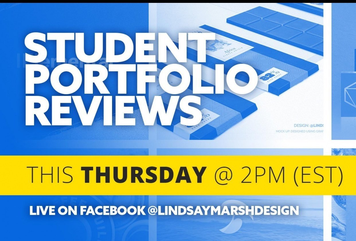 Live Video Where I review 40+ Student Portfolios - student project