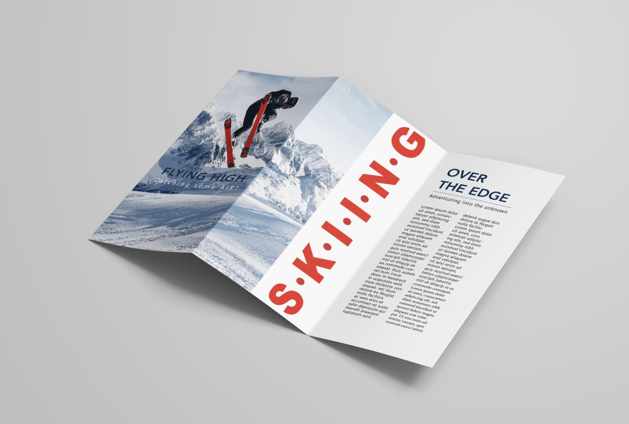 Ski Leaflet - student project