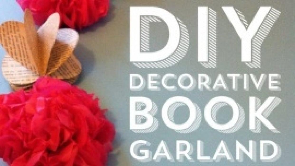 DIY Decorative Book Garland - student project