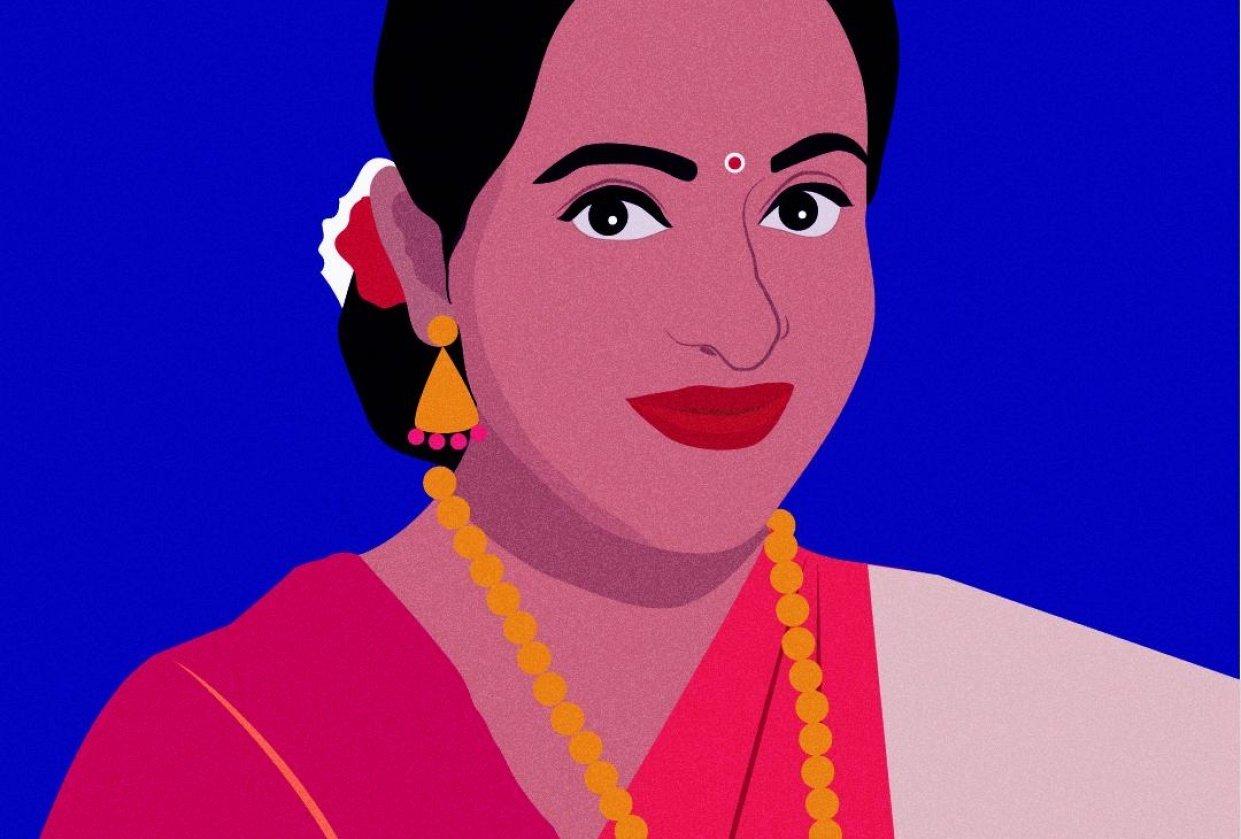 Self-Portrait in Saree - student project