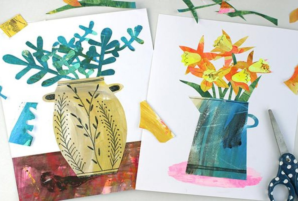 Create your own painted papers - student project