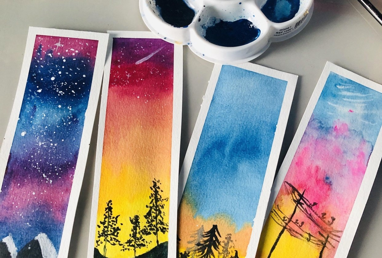 Beautiful bookmarks! Loved the class =) - student project